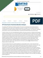 FFT (Fast Fourier Transform) Waveform Analysis