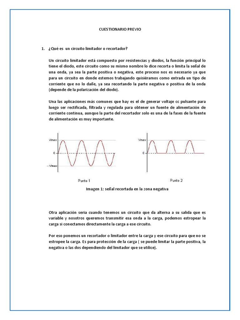 Circuito Que Es : Cuestionario previo circuitos electronicos