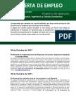 Ofertas de Empleo Ciencias Exactas, Ingenierias y Ciencias Económicas (1)
