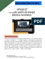 HPU3612T Medidor Portatil de Energia Electrica Monofasico