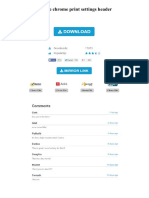 Google Chrome Print Settings Header