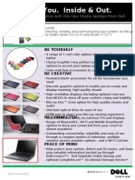 Studio Laptops Spec sheets