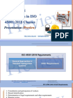 OH&S requirements in ISO 45001 clauses Presentation (preview