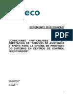 Servicio de Asistencia y Apoyo Proyecto de Sistemas en Centros de Control Ferroviario