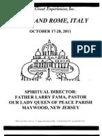 Italy Trip Brochure