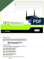 User Guide Wireless Linksys Router WRT54GL