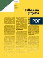 Falhas em Projetos