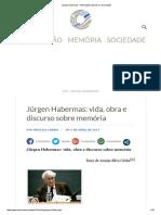 Jürgen Habermas – Informação, Memória e Sociedade