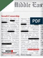 Israeli Censorship