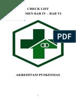 Check List Dokumen Ukm Bab IV - Vi