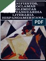 Osorio, Manifiestos, Proclamas y Polemicas de La Vanguardia. Prologo