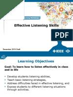 1. Improving Listening Skills