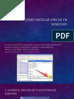 Como Instalar Apache en Windows