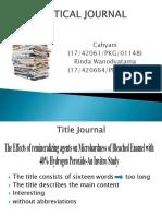 Critical Journal Fix