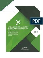 Lineamiento Para La Gestion Administrativa de Proyectos INNOVATE PERu Preparacion Acreditacion Labs 2015 1