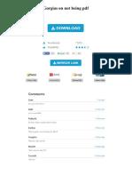 Gorgias on Not Being PDF