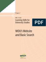 Learning Skills for Uni Studies U1