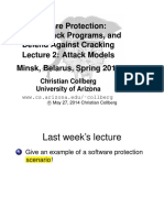 Software Protection - Lecture 2