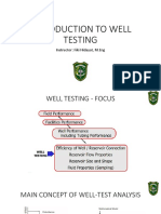 Lecture Week 1b - Introduction to Well Testing