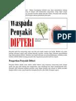 Gejala Penyakit Difteri