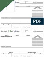 Form-102317 - Job Order