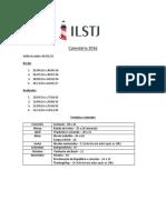 Calendário 2016 ILSTJ