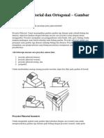 Proyeksi Piktorial Dan Ortogonal