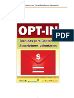 Opt-In - Técnicas para Captar Suscriptores Voluntarios para tu lista de e-Mail Marketing