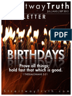 Birthdays ~ StraitwayNewsletter 3 (2012) Elder Doug Becker