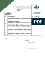 Daftar Tilik Audit Penilaian Kinerja Keuangan
