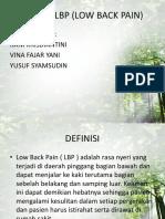 Senam Lbp (Low Back Pain)