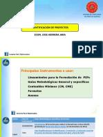 Presentación PPT - Aspectos Generales e Identificación de Proyectos
