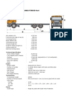 Specification of Scania P380CB-6x4