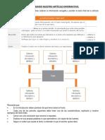 Organizando Nuestro Artículo Informativo