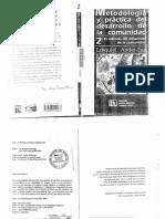 Ander-Egg, Ezequiel. Metodología y Práctica Del Desarrollo de La Comunidad. Tomo II