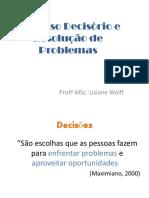 Material 3 -Processo Decisorio e Resolucao de Problemas Nas Organizacoes