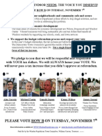 Windsor Town Council Candidates Flyer