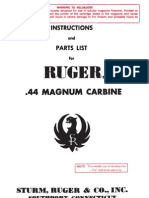 Ruger 44Mag Carbine Manual - 1964