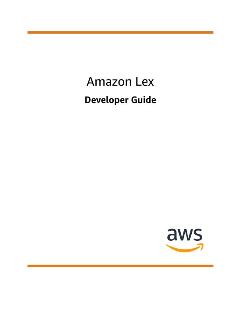 lex-dg | Command Line Interface | Amazon Web Services
