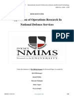 Application of Operations Research In National Defence Services