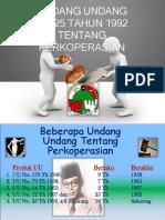 UU No 25 Tahun 1992 Tentang Perkoperasian (KPRI ADIL).ppt