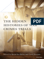 The Hidden Histories of War Crimes Trials - Kevin Jon Heller and Gerry Simpson  OUP2013