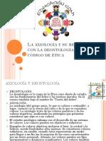La Axiología y Su Relación Con La Deontología
