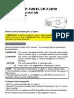 Hitachi Cp x2510 Manual