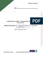 SNI ISO 15189 2012