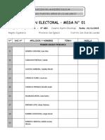 Padron Electoral Mesa 1