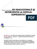 Consiliere Educationala Si Interventie La Copilul Supradotat