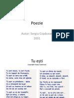 Poezie Tu Esti Sergiu Copacean (c) 2001