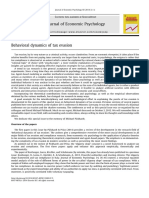 Behavioral Dynamics of Tax Evasion