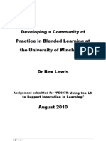 Developing a Community of Practice at the University of Winch Ester 24-8-10